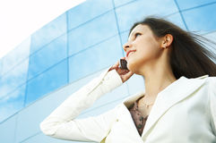 Beautiful business woman Stock Images