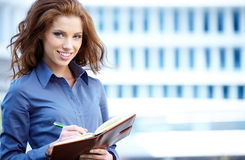 Beautiful business woman Stock Photography
