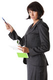 Beautiful business woman chief Royalty Free Stock Photography