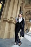Beautiful Business Woman in City Outdoor Concept. Photo Royalty Free Stock Images