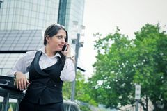 Beautiful Business Woman in City Outdoor Concept. Photo Royalty Free Stock Photo