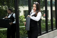 Beautiful Business Woman in City Outdoor Concept. Photo Stock Photo
