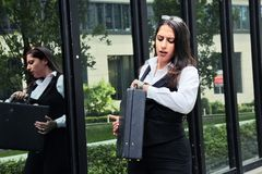 Beautiful Business Woman in City Outdoor Concept. Photo Royalty Free Stock Photos