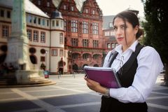 Beautiful Business Woman in City Outdoor Concept. Photo Royalty Free Stock Image