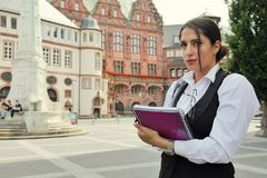Beautiful Business Woman in City Outdoor Concept. Photo Stock Photos
