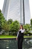 Beautiful Business Woman in City Outdoor Concept. Photo Stock Image