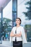 Beautiful business woman doing portrait Stock Images
