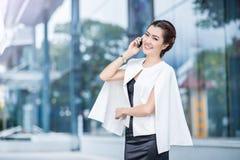 Beautiful business woman doing portrait Royalty Free Stock Image