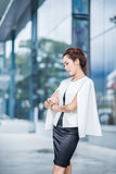 Beautiful business woman doing portrait Stock Photo