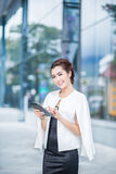 Beautiful business woman doing portrait Stock Image
