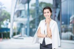 Beautiful business woman doing portrait Stock Image