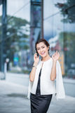 Beautiful business woman doing portrait Stock Photos