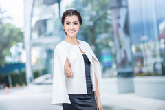 Beautiful business woman doing portrait Royalty Free Stock Photos