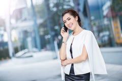 Beautiful business woman doing portrait Royalty Free Stock Photo