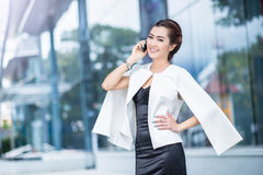 Beautiful business woman doing portrait Royalty Free Stock Images