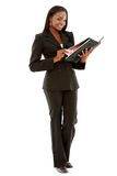 Beautiful business woman with a folder Stock Photos