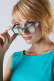 Beautiful business woman with glasses Stock Photo