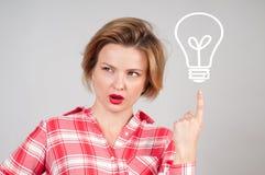 Beautiful business woman has an idea Stock Photography