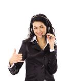 Beautiful business woman with headset Stock Photos