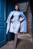 Beautiful business woman lady style perfect body shape Royalty Free Stock Photography
