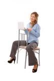 Beautiful business woman with laptop Stock Photos