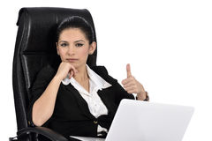 Beautiful Business Woman on a Laptop Royalty Free Stock Photo