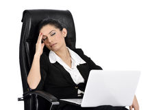 Beautiful Business Woman on a Laptop Stock Image