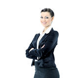 Beautiful business woman nice smiles. isolated on white background. Stock Images