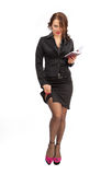 Beautiful business woman with a notebook in hand Royalty Free Stock Photo