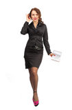 Beautiful business woman with a notebook in hand Royalty Free Stock Photography