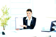 Beautiful business woman in the office, Royalty Free Stock Image