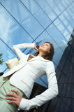 Beautiful  business woman on the phone Royalty Free Stock Image