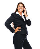Beautiful business woman on the phone Stock Image