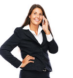 Beautiful business woman on the phone Stock Photo