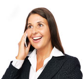 Beautiful business woman on the phone Royalty Free Stock Photography