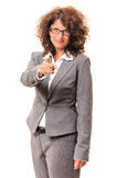 Beautiful business woman pointing Royalty Free Stock Photography
