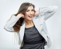 Beautiful business woman portrait. Royalty Free Stock Images
