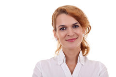 Beautiful business woman's face Royalty Free Stock Photo