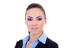 Beautiful business woman's face Royalty Free Stock Images