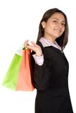Beautiful business woman with shopping bags Stock Photography