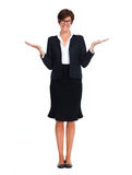 Beautiful business woman with short hairstyle. Royalty Free Stock Photos