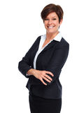 Beautiful business woman with short hairstyle. Royalty Free Stock Photo
