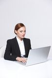 Beautiful business woman smiling Royalty Free Stock Photo