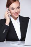 Beautiful business woman smiling Stock Photos
