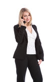 Beautiful business woman speaking on telephone Royalty Free Stock Images