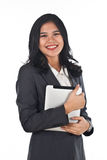 Beautiful business woman with tablet computer Royalty Free Stock Images