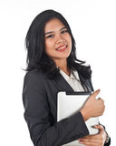 Beautiful business woman with tablet computer Royalty Free Stock Photos
