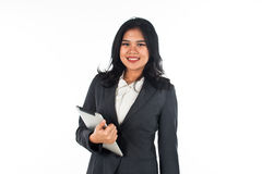 Beautiful business woman with tablet computer Royalty Free Stock Photography