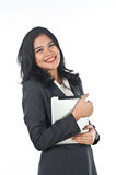 Beautiful business woman with tablet computer Royalty Free Stock Image