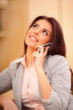 Beautiful business woman talking on cell phone Stock Photo